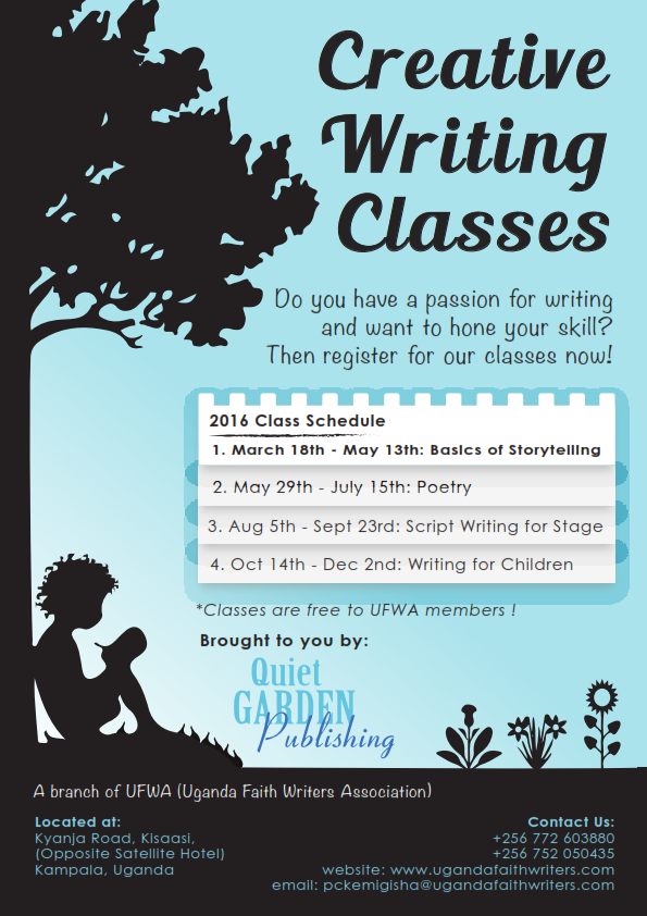 Quiet Garden's Writing Classes